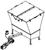 06652885 Automatyczny podajnik z zapalarką do spalania biomasy 10m3 400V 60kW, głowica: żeliwna (paliwo: trociny, wióry, zrębki, kora, brykiet, agrobrykiet, pellet, pestki owoców)