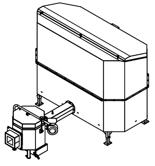 06652915 Automatyczny podajnik do spalania biomasy 2m3 230V 30kW, głowica: ceramiczna (paliwo: trociny, wióry, zrębki)