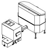 06652971 Automatyczny zestaw do spalania biomasy 2m3 400V 60kW, głowica: żeliwna, z systemem usuwania popiołu (paliwo: trociny, wióry, zrębki, kora, brykiet, agrobrykiet, pellet, pestki owoców)