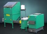 06653064 Automatyczny zestaw do spalania biomasy 1m3 230V 50kW, głowica: ceramiczna, z systemem usuwania popiołu (paliwo: trociny, wióry, zrębki)
