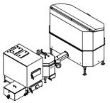 06653065 Automatyczny zestaw do spalania biomasy 2m3 230V 50kW, głowica: ceramiczna, bez systemu usuwania popiołu (paliwo: trociny, wióry, zrębki)