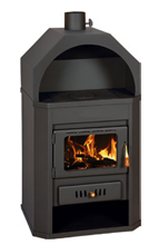 23055346 Piec wolnostojący 15kW na drewno, węgiel (górny wylot spalin: 130mm)