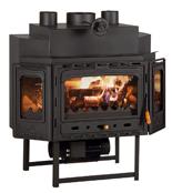 23055381 Wkład kominkowy 18kW z płaszczem wodnym + doprowadzenie ciepłego powietrza (3 szyby)