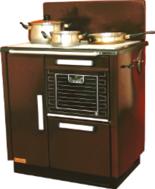 25945725 Kuchnia węglowa 9,2kW KAROLINA wylot spalin z tyłu z lewej strony (kolor: brązowy)