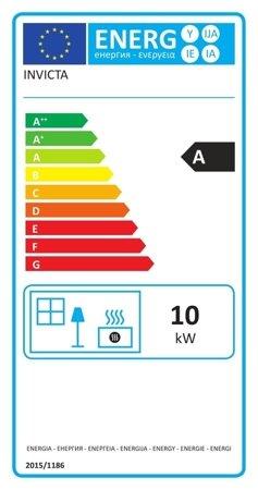 BINIKTA Piec wolnostojący Invicta 10kW Mairy (górna średnica wylotu spalin: 150mm, kolor: antracyt) - spełnia anty-smogowy EkoProjekt 86854942