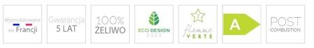 BINIKTA Piec wolnostojący Invicta 12kW Gomont (kolor: antracyt) - spełnia anty-smogowy EkoProjekt 86829179