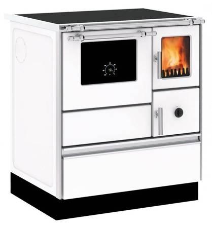 DOSTAWA GRATIS! 27772890 Kuchnia wolnostojąca, angielka na drewno, węgiel 6kW, bez płaszcza wodnego (kolor: biały)
