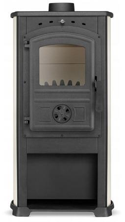 DOSTAWA GRATIS! 99672871 Piec wolnostojący 7,5-12kW (kolor: beż, wylot spalin: 120mm) - spełnia anty-smogowy EkoProjekt