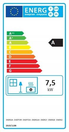 DOSTAWA GRATIS! 99672873 Piec wolnostojący 7,5-12kW (kolor: czerwony, wylot spalin: 120mm) - spełnia anty-smogowy EkoProjekt
