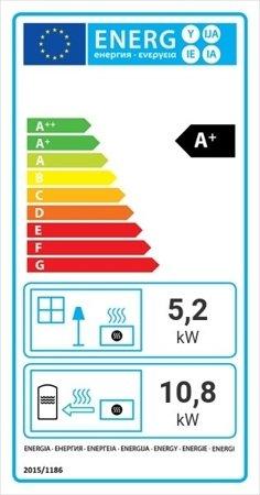 KONS Wkład kominkowy 16kW AQUARIO O16 PW z płaszczem wodnym, wężownicą (szyba prosta) - spełnia anty-smogowy EkoProjekt 30046801