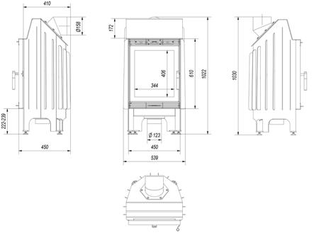 KONS Wkład kominkowy 8kW Blanka (szyba prosta) - spełnia anty-smogowy EkoProjekt 30040872