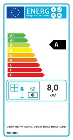 KONS Wkład kominkowy 8kW Maja (prawa boczna szyba) - spełnia anty-smogowy EkoProjekt 30040900