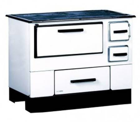 Kuchnia wolnostojąca, angielka na drewno 5kW, bez płaszcza wodnego (kolor: biały) 27776233