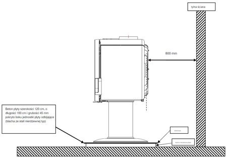 Piec wolnostojący Invicta 10kW Fifty Arche (wylot spalin: 150mm, kolor: emalia czerwona) - spełnia anty-smogowy EkoProjekt 86868884