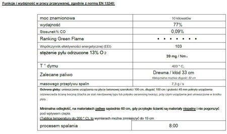 Piec wolnostojący Invicta 10kW Modena (kolor: emalia szara) - spełnia anty-smogowy EkoProjekt 86876395