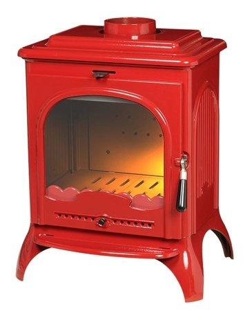 Piec wolnostojący Invicta 7kW Seville (wylot spalin: góra, kolor: emalia czerwona) - spełnia anty-smogowy EkoProjekt 86865696