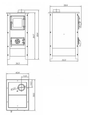 Piec wolnostojący MBS 7kW Hera (kolor: czarny) - spełnia anty-smogowy EkoProjekt 88876223