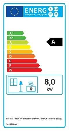 Wkład kominkowy 8kW Maja BS (prawa boczna szyba bez szprosa) - spełnia anty-smogowy EkoProjekt 30040902