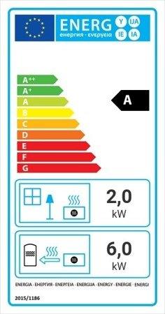 Wkład kominkowy 8kW Maja BS z płaszczem wodnym, wężownicą (lewa boczna szyba bez szprosa) - spełnia anty-smogowy EkoProjekt 30041195
